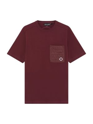 Ss Quilt Pocket Tee-Fig
