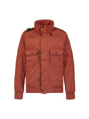 Bomber Jacket-Burnt Orange