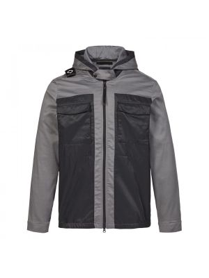 Hooded Panel Overshirt-Dark Slate