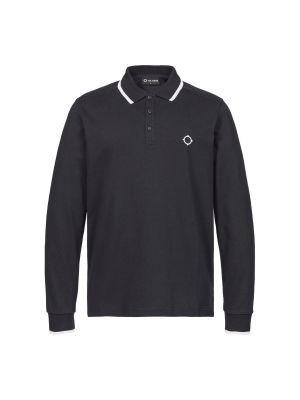 Ls Jersey Polo-Jet Black