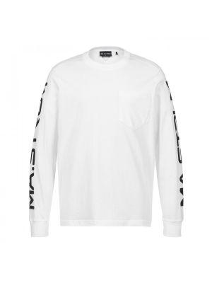 Ls Sleeve Print Tee-Optic White