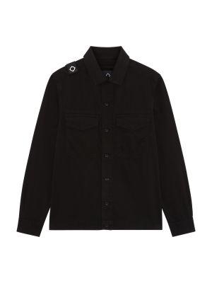 Two Pocket Gd Overshirt-Jet Black