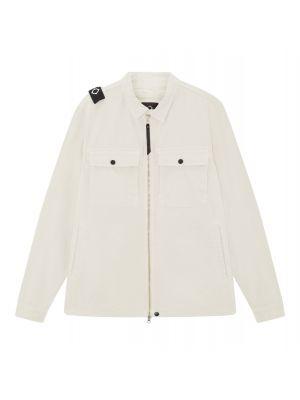 Gd Zip Front Overshirt-Aluminium
