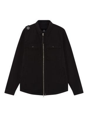 Gd Zip Front Overshirt-Jet Black