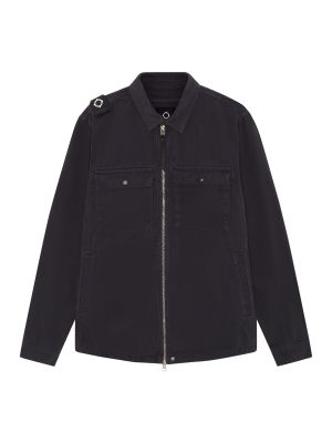 Gd Zip Front Overshirt-Dark Navy