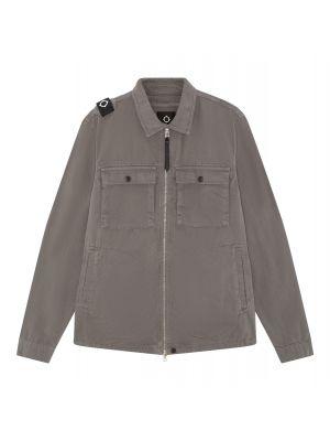 Gd Zip Front Overshirt-Dark Slate