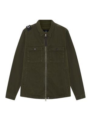 Gd Zip Front Overshirt-Oil Slick