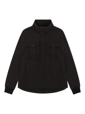 Softshell Funnel Neck Jacket-Jet Black