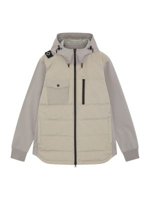 Softshell Down Quilt Hooded Jacket-Quicksilver