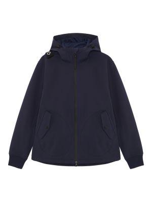 Softshell Full Zip Hooded Jacket-Dark Navy