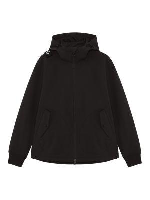 Softshell Full Zip Hooded Jacket-Jet Black