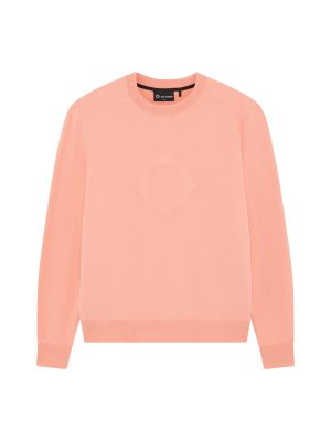 Embossed Compass Crew Sweat-Coral
