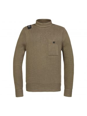 Milano Knit Roll Neck-Timber Wolf