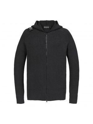 Milano Knit Full Zip Hoody-Jet Black