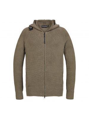 Milano Knit Full Zip Hoody-Timber Wolf