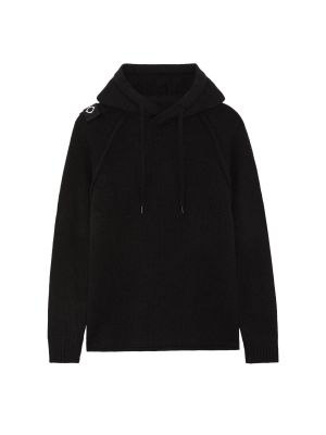 Overhead Hoody Knit-Jet Black