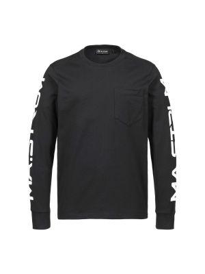 Ls Sleeve Print Tee-Jet Black