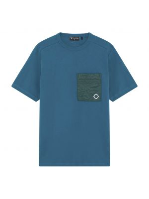Ss Quilt Pocket Tee-Teal