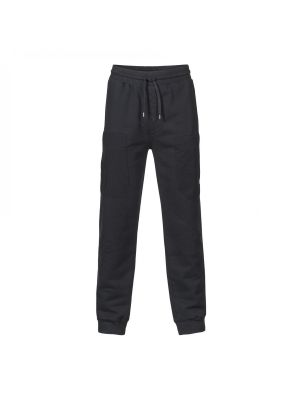 Patch Pocket Track Pant-Jet Black
