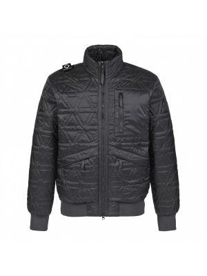 Polygon Quilt Jacket-Jet Black