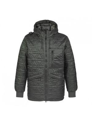 Polygon Quilt Hooded Jacket-Oil Slick