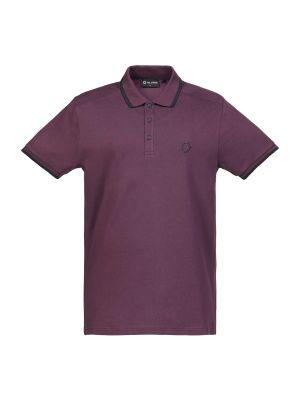 Ss Jersey Polo-Aubergine