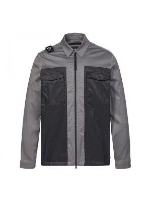Zip-Through Overshirt-Dark Slate