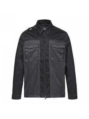 Zip-Through Overshirt-Jet Black